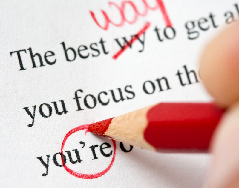 Research paper proofreading checklist